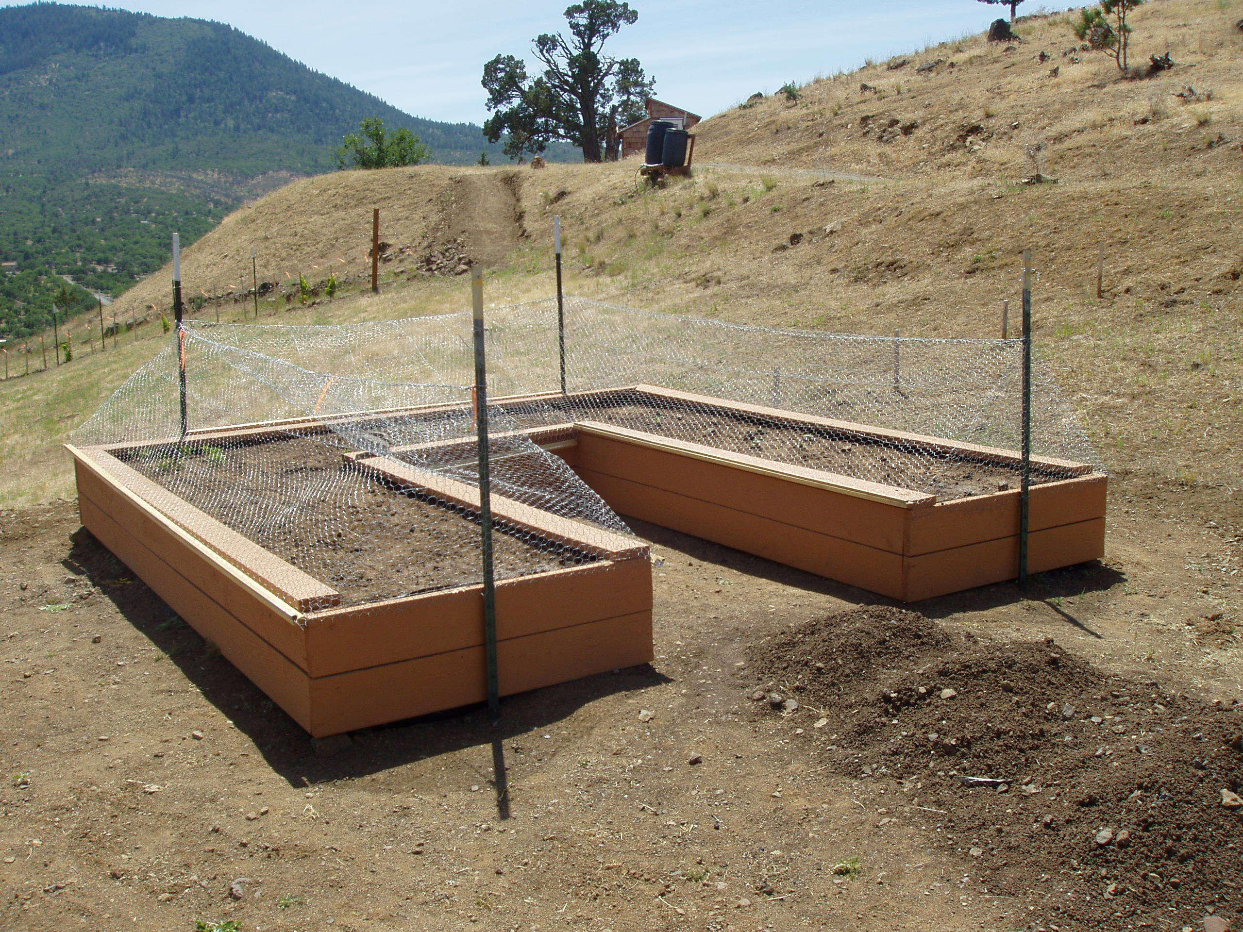 Garden box fence covers for our shasta sanctuary june baanklon Gallery
