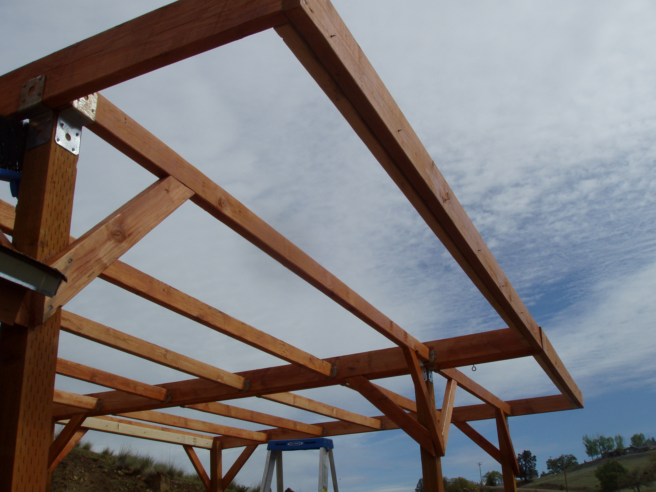 A Pergola For The Sangha Shed Of Liza Dzhensen And Will Jensen