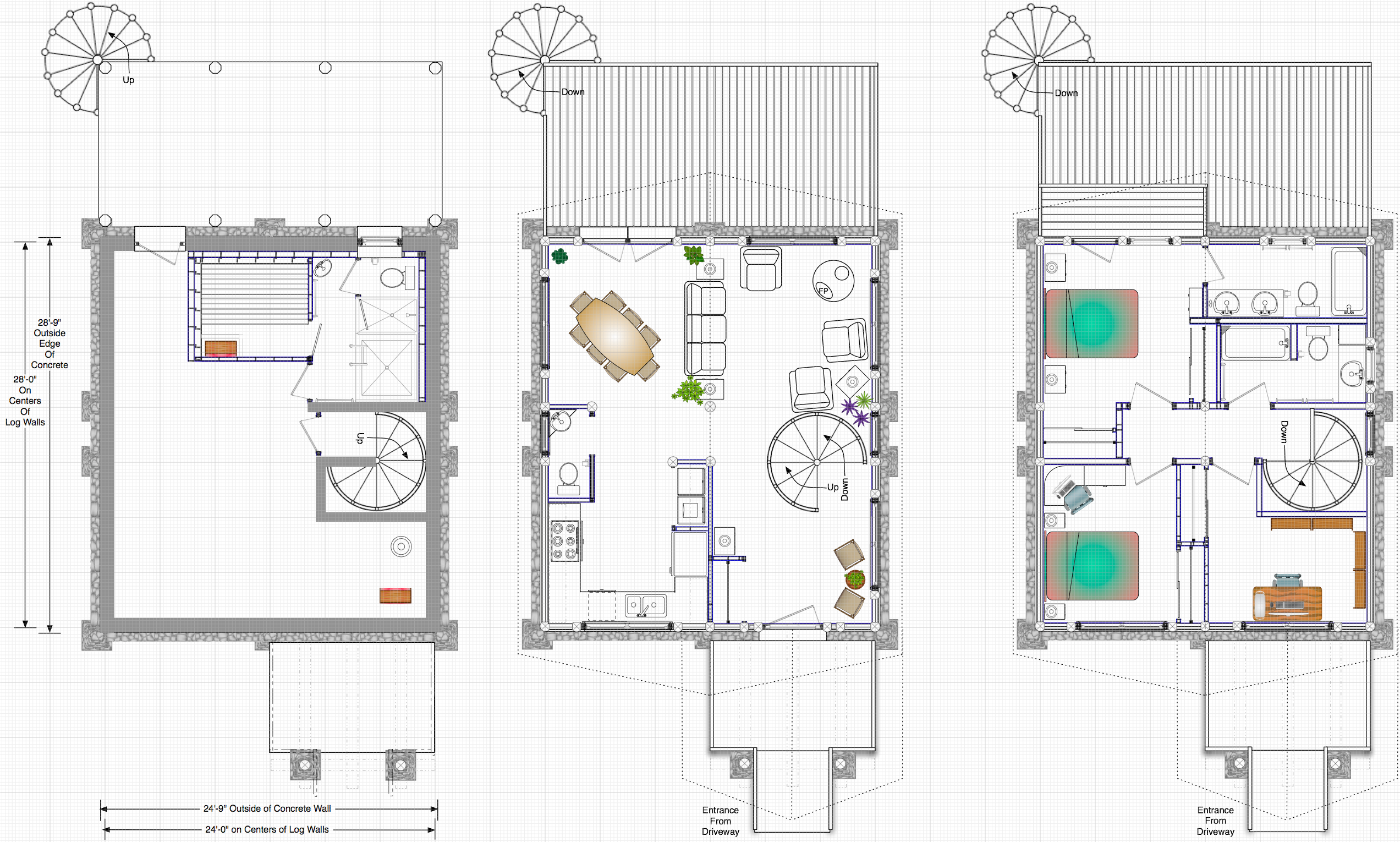Spiral staircase house plans house design plans for Blueprint home plans